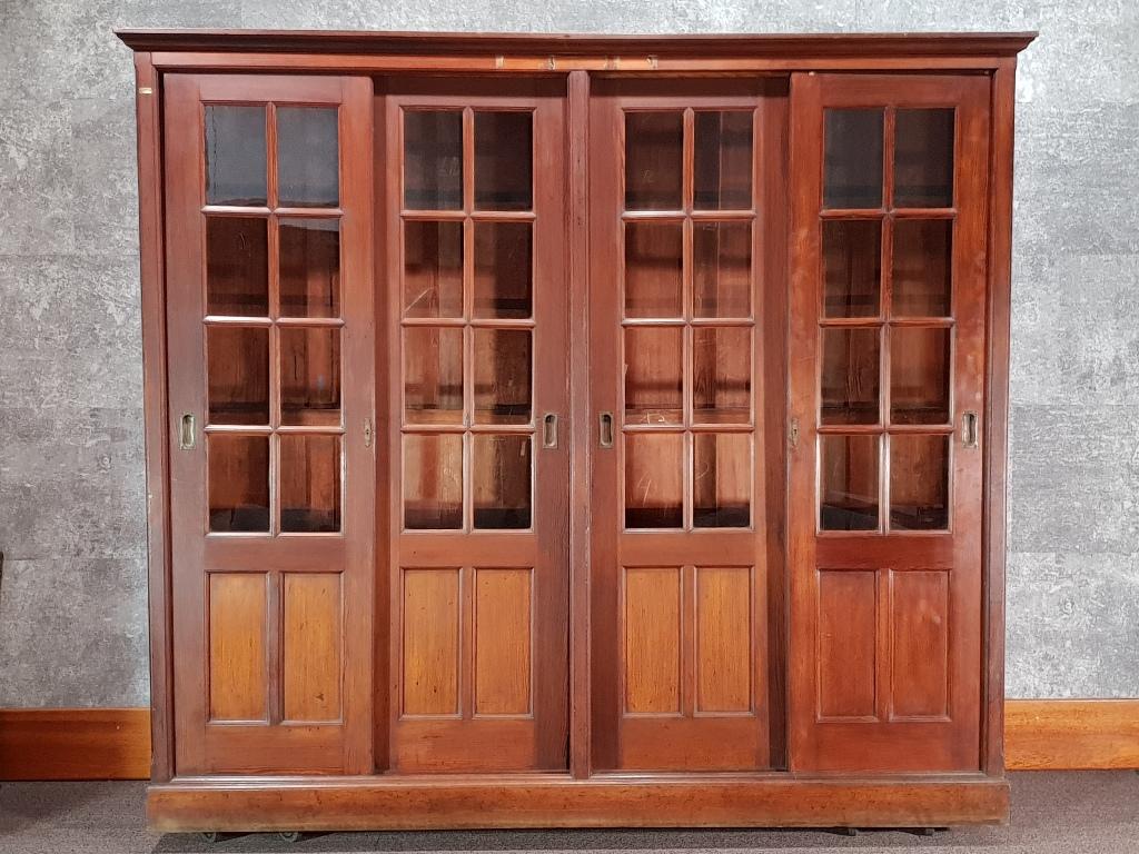 Antique Pitch Pine School University Lab Cabinet Circa 1900…