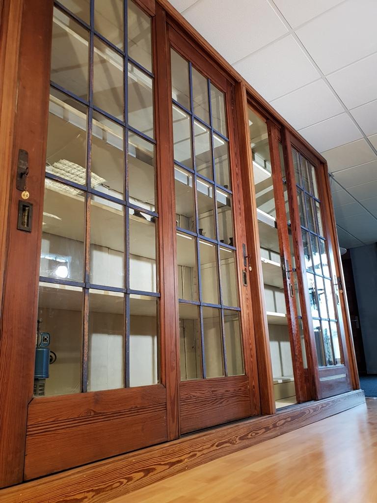Original Antique Pitch Pine School University Lab Cabinet Circa 1900…