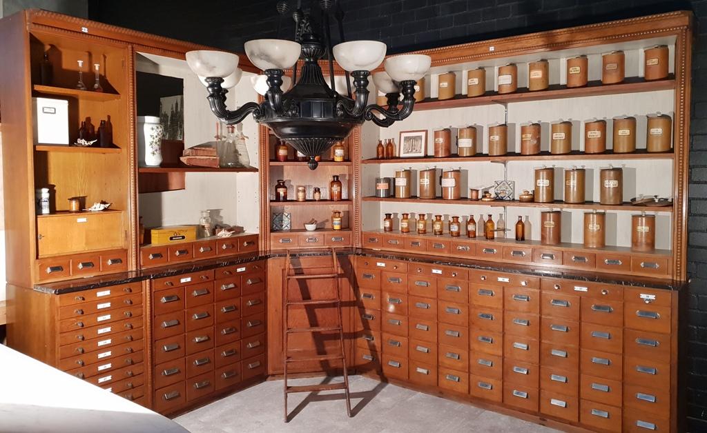 Apothecary Pharmacy Dispensary Cabinet