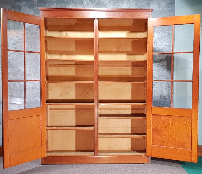 Antique  Pitch Pine School University Lab Cabinet Circa 1900…
