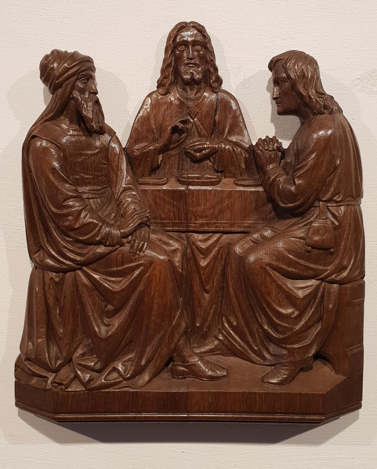 Very Fine Wood carved Altar Panel