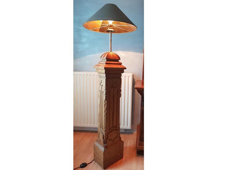 Antique baluster lamp